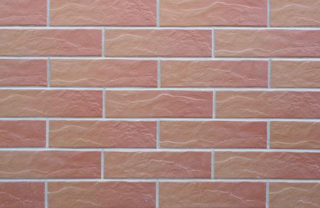 paredes de ladrillos: La textura en forma de baldosas cerámicas con imitación de ladrillo.