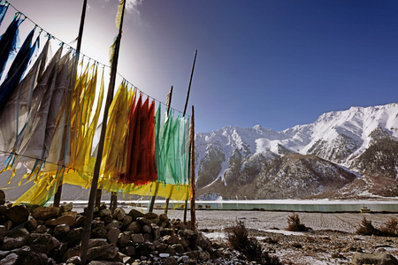 tibet: Lake at Tibet