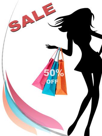 shopping centre: 50% Sale off concept image