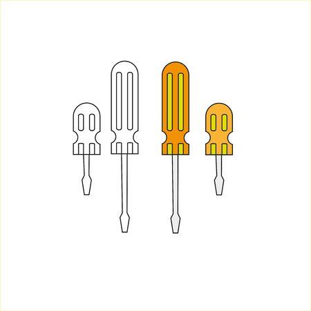 a illustration of hand tool equipment screwdriver 向量圖像