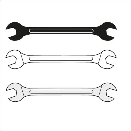 a illustration of hand tool equipment pass wrench