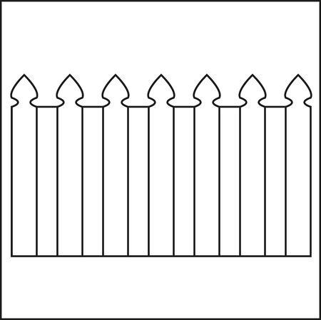 clôture en bois de vecteur