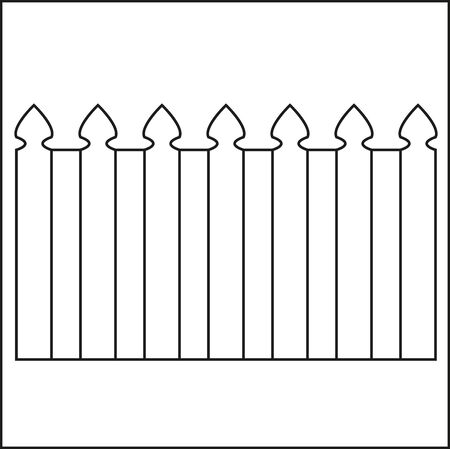 vector wooden fence