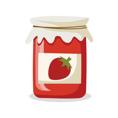jam jar: Strawberry Jam Illustration