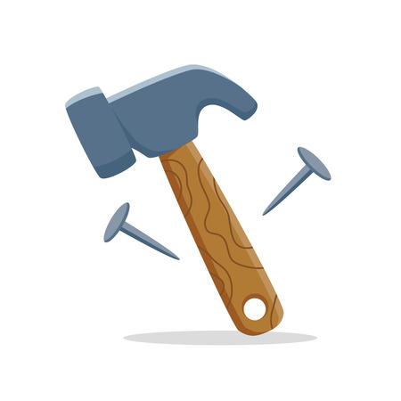 hammer cartoon  イラスト・ベクター素材