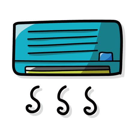 Acondicionador de aire de color del doodle Foto de archivo - 44556081