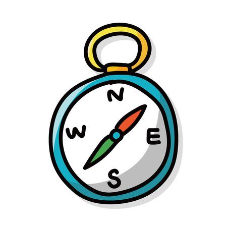compass color doodle