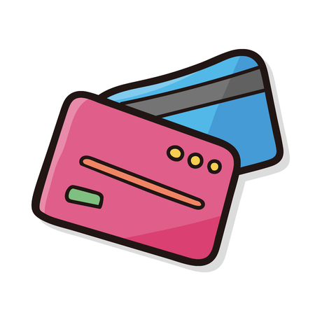 personal banking: credit card color doodle