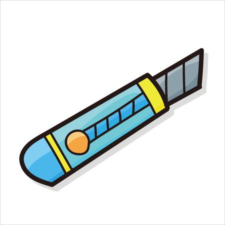 utility knife: utility knife color doodle