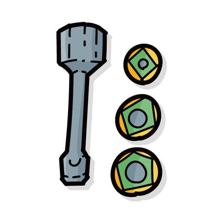 lowbrow: screw color doodle
