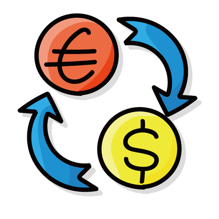 money exchange: money exchange doodle