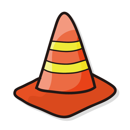 triangular: Triangular cone color doodle