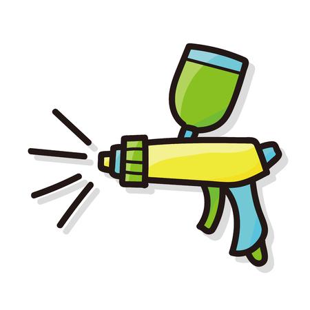 paint gun: Spray gun doodle