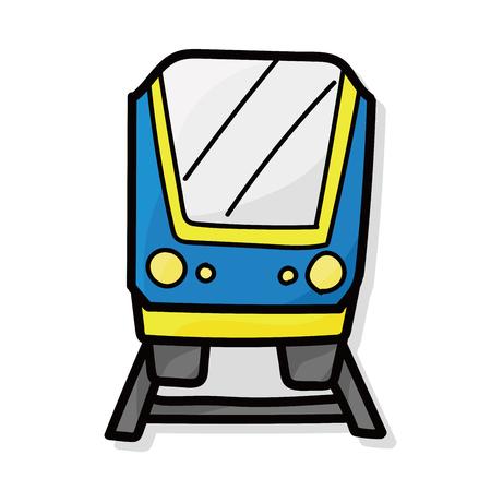motor de carro: tren del color del doodle