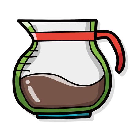 메이커: coffee kettle maker color doodle 일러스트