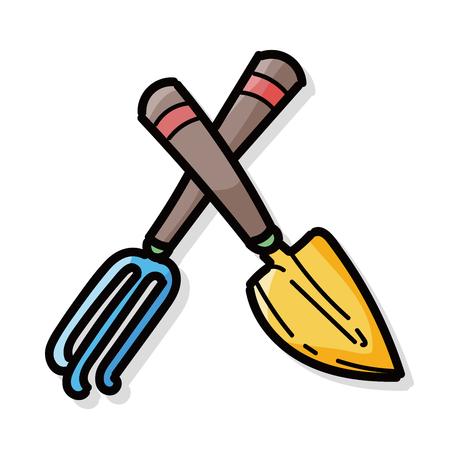 hand trowels: Shovel color doodle