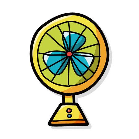 color fan: fan color doodle Illustration