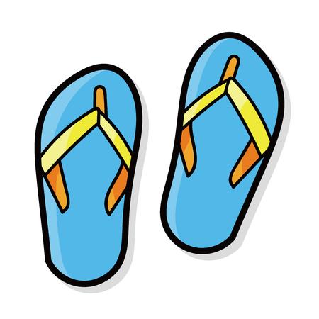 flip flop color doodle