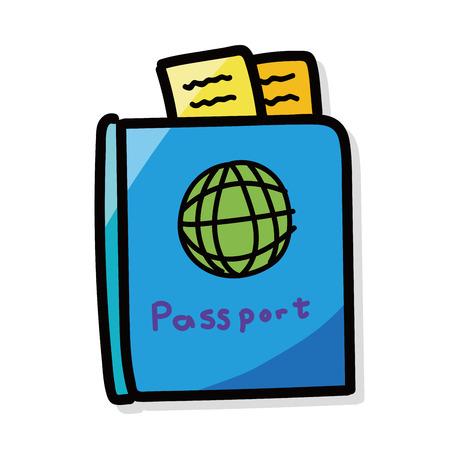 passport color doodle