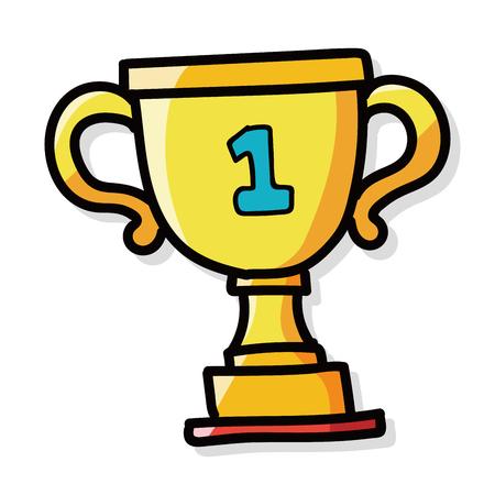 background trophy: Trophy color doodle