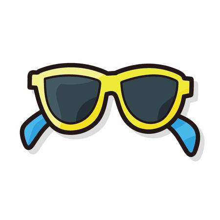 sun glasses: sun glasses color doodle