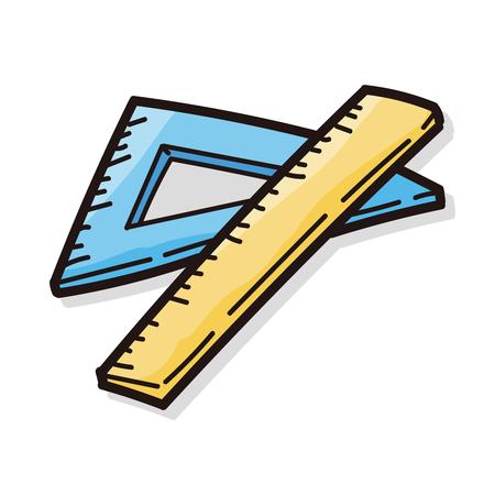 ruler color doodle
