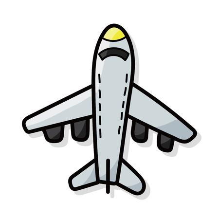 airplane color doodle Stock Illustratie