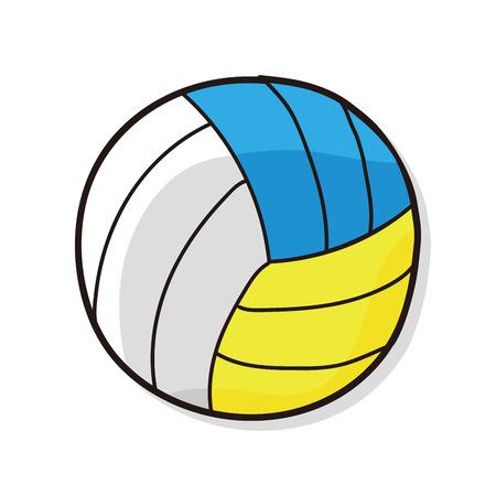 pelota de voleibol: garabato del voleibol
