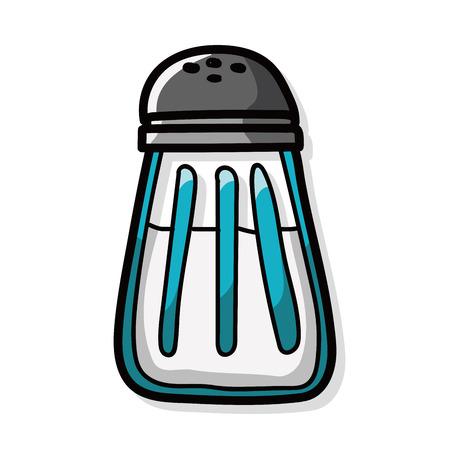 sauce bottle: sauce bottle color doodle