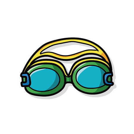goggles: Goggles doodle Illustration