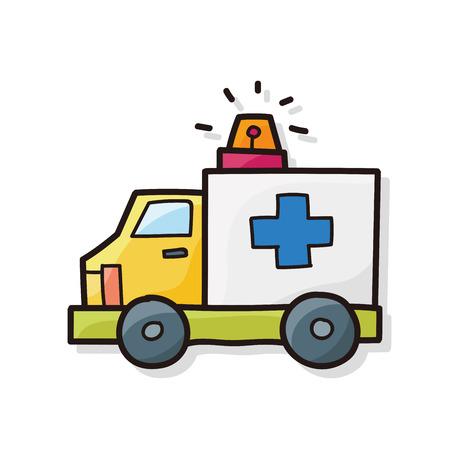ambulance color doodle