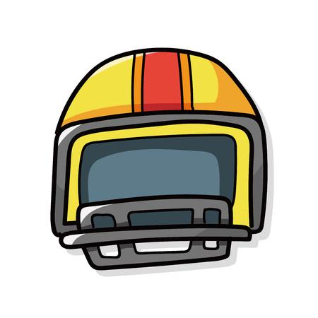 concussion: football helmet doodle