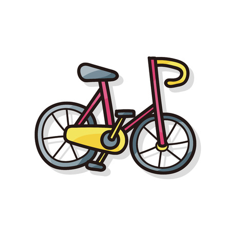 pedaling: bicycle doodle Illustration