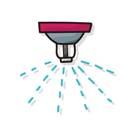 smoke alarm: Sprinklers color doodle