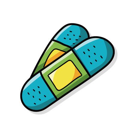 bandage color doodle