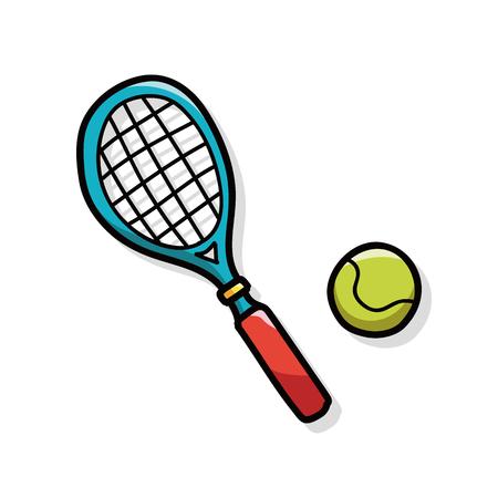 jugando tenis: tenis garabato