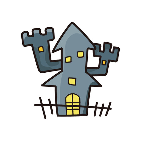 ghost house: ghost house doodle