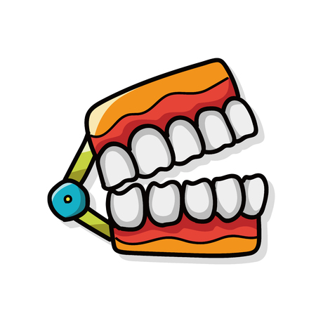 mouth smile: teeth color doodle