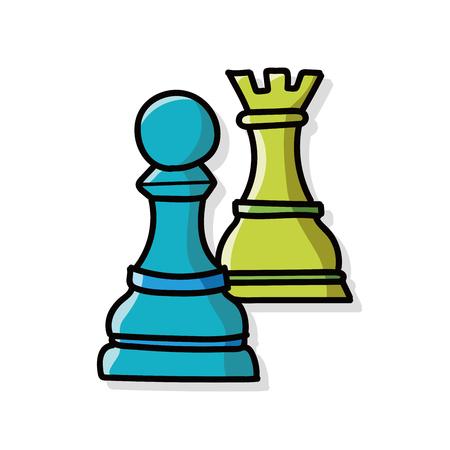 ajedrez: doodle de ajedrez