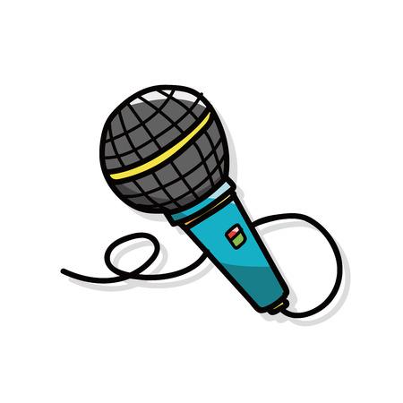 microphone doodle  イラスト・ベクター素材