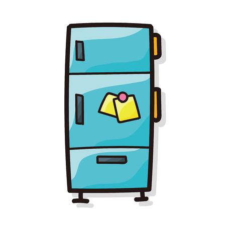 refrigerator: refrigerator color doodle