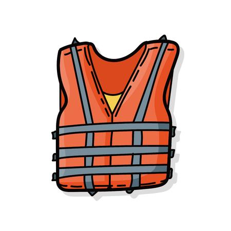 life jacket: Life jacket color doodle