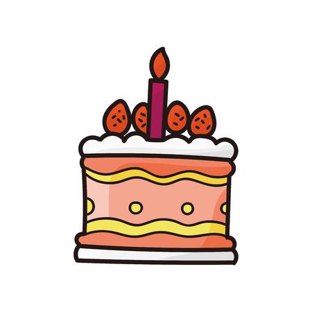 birthday tea: cake doodle