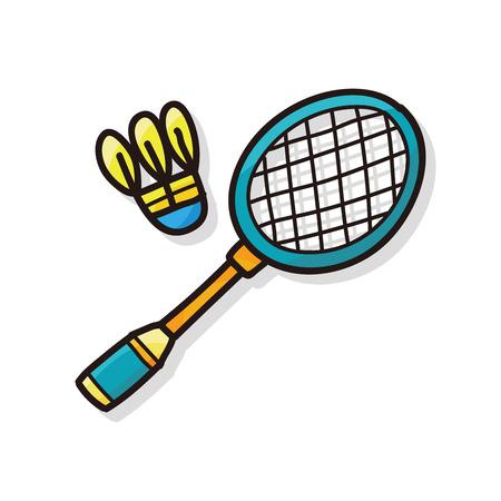 badminton: badminton doodle