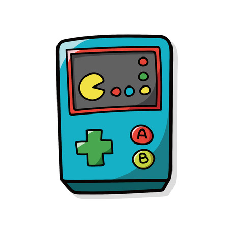 game console: game console doodle Illustration