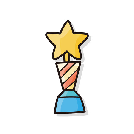 sports trophy: Trophy doodle