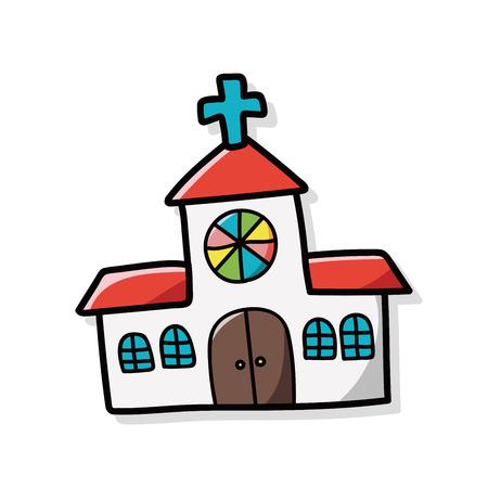 Kerk doodle Stockfoto - 44568868