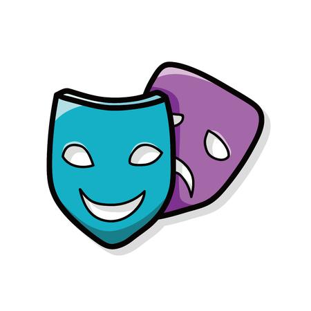 opera: opera mask doodle