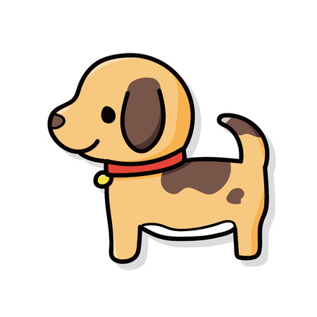 dog doodle  イラスト・ベクター素材