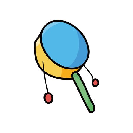 sonaja: juguete sonajero garabato